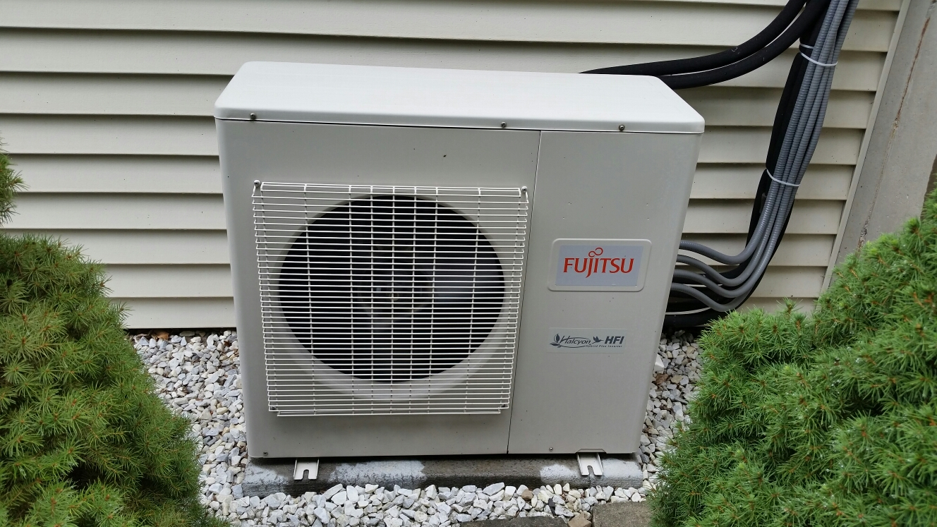 Lansing, NY - Planned maintenance on Comfort Technology installed Fujitsu mini split air conditioning system.