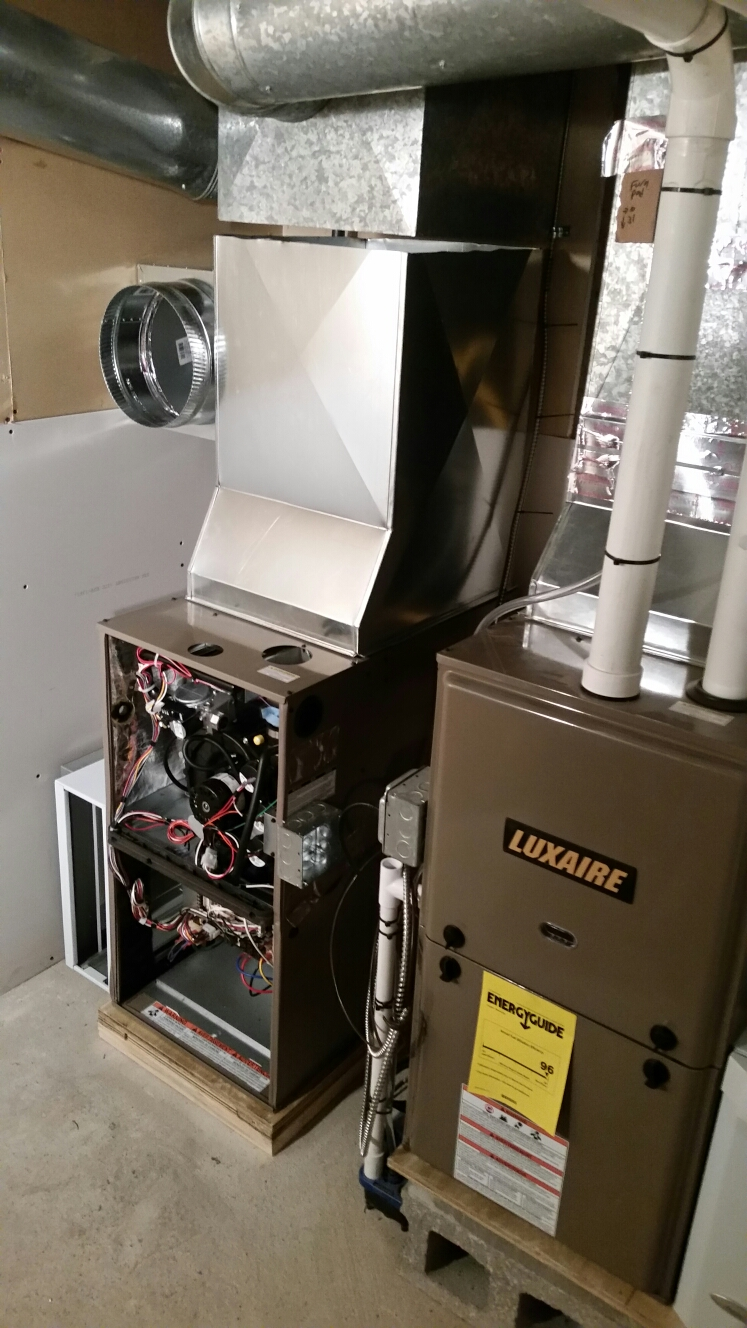 Ithaca, NY - Installing 2nd high efficiency 2 stage gas fired furnace, with whole house Aprilaire dehumidifier,