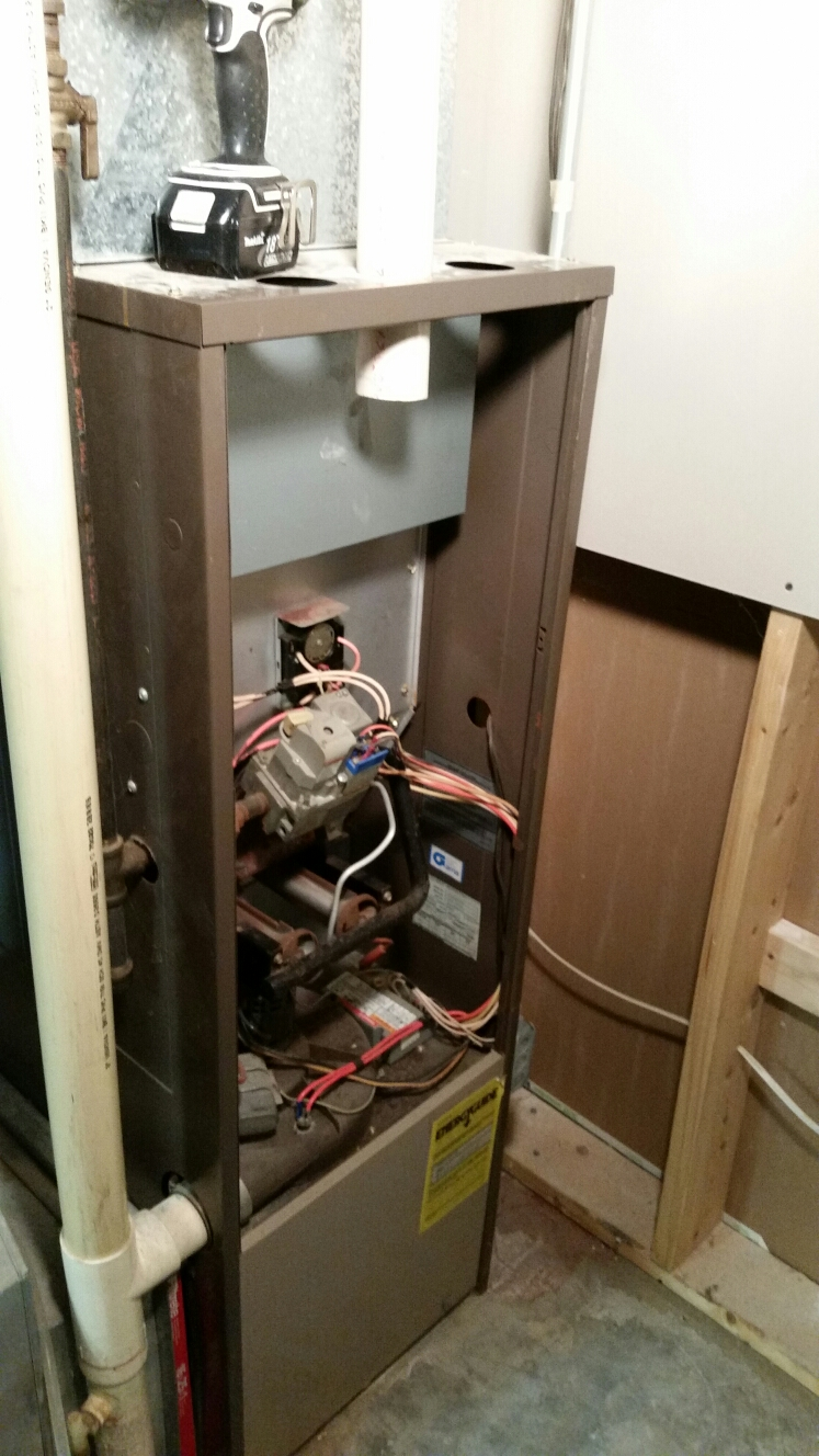 Dryden, NY - Start replacement of Whirlpool furnace.