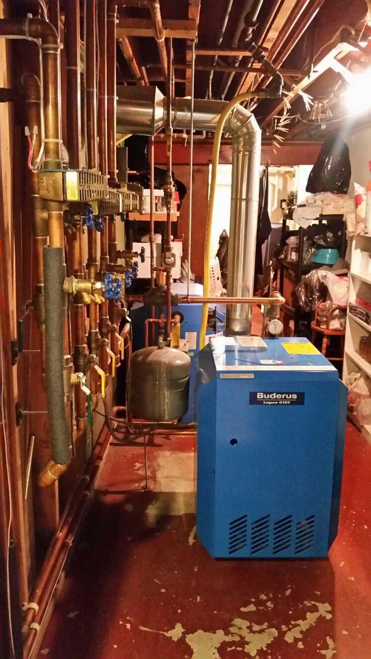 Cortland, NY - Planned maintenance on Comfort Technology installed, gas fired, Buderus boiler. Test safeties and combustion.
