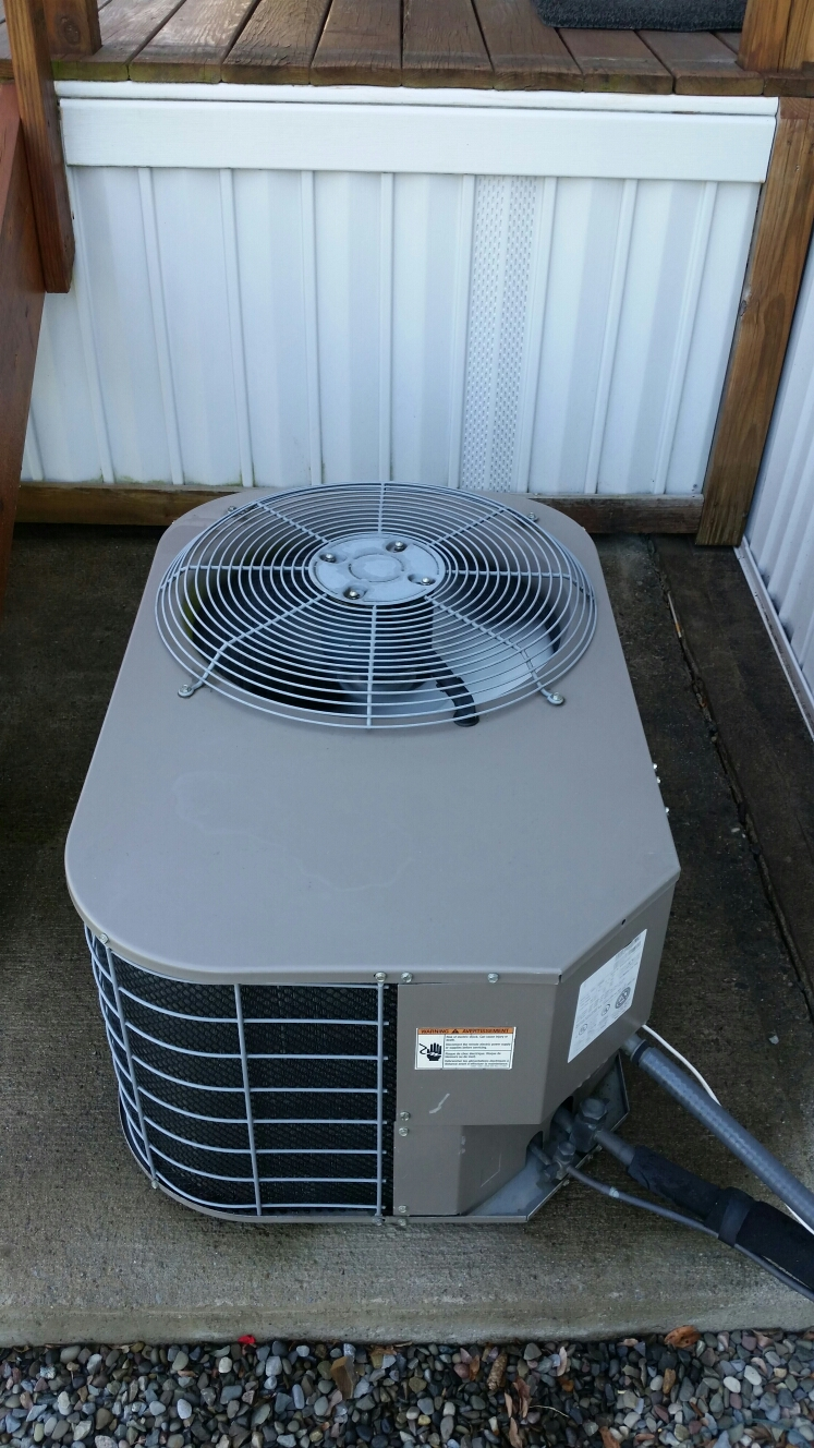 Dryden, NY - Service UPG mobile home AC system. Clean and rinse coils. Inspect electrical.