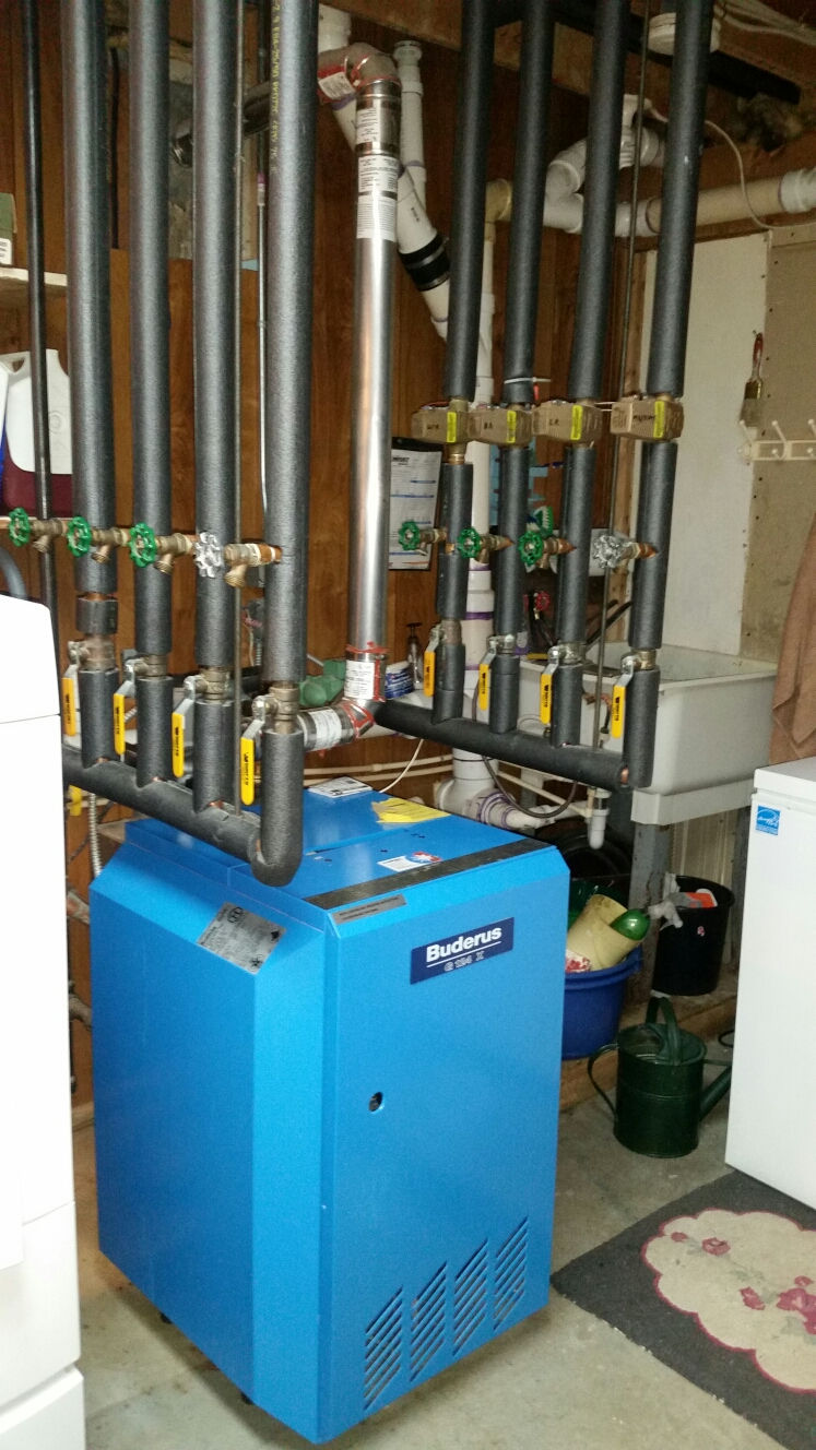 Lansing, NY - Scheduled maintenance on Comfort Technology installed gas fired Buderus boiler. Test safeties and combustion.