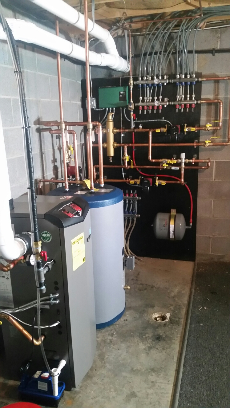 Lansing, NY - Finish install and programming of high efficiency, modulating, gas fired, Lochinvar boiler. Test safeties and combustion.