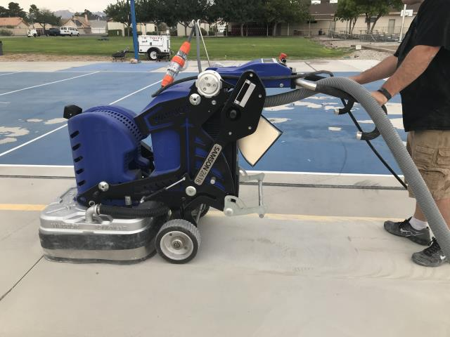 Paso Robles, CA - Our grinders are ideal for concrete surface preparation, epoxy terrazzo and coating removal. They can also be used for concrete polishing!