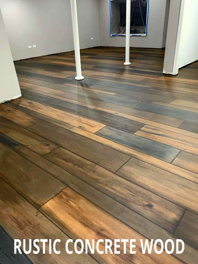 Beaverdam, OH - The Concrete Protector offers FREE training on the popular Rustic Wood system that is perfect for garage floors, basement floors, restaurants, patios, and more