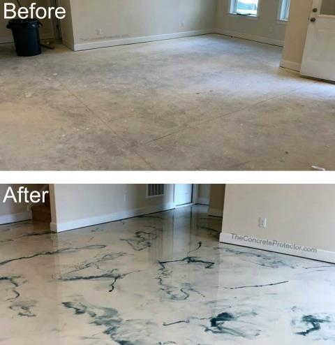 Dublin, OH - Did you know the Epoxy Neat Coat protects concrete floors from foot traffic and keeps the floor looking great for years to come? Epoxy Neat Coat provides excellent abrasion resistance, protects against most common chemicals, and offers long-lasting protection for concrete surfaces.