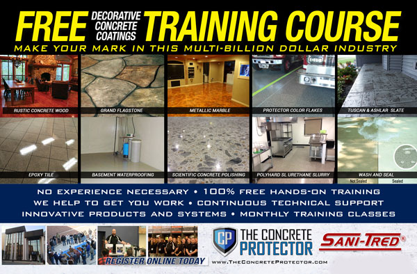 Jackson, WY - Excellent training classes with high-quality epoxy concrete resurfacing products and equipment.