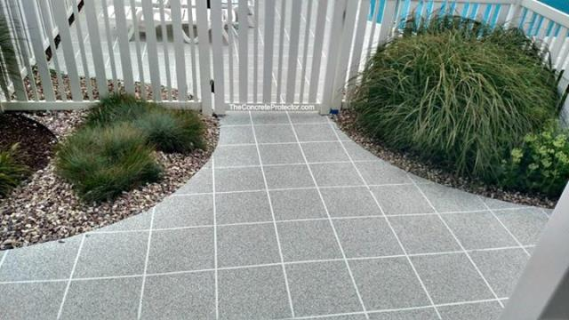 Glocester, RI - Hey! Did you know you can spruce up your pool deck, porch, or back patio with our epoxy floor coating? There are so many styles available including Rustic Wood, Metallic, Marble, and GRANIFLEX!