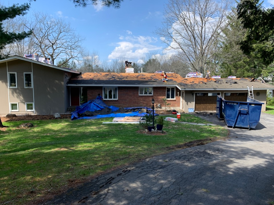 Cazenovia, NY - Beautiful day to replace a roof!