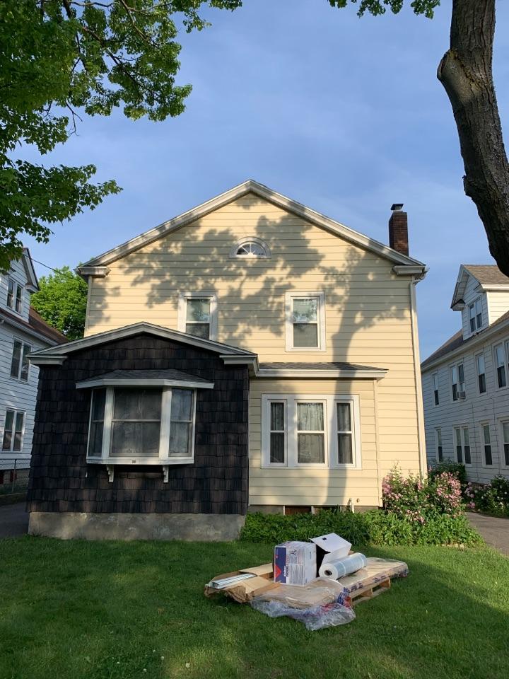 Syracuse, NY - Brand new roof. GAF Pewter Grey shingles.