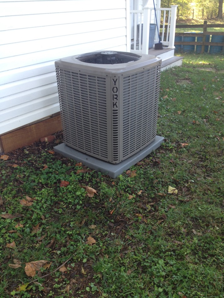 Royston, GA - Heating season tune up on 3 ton York heat pump