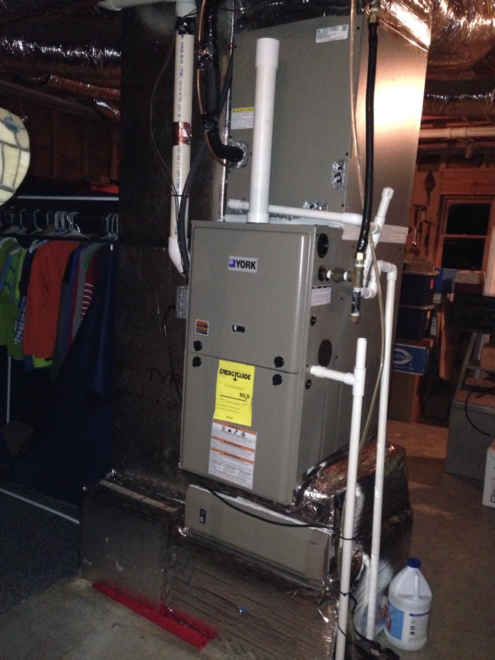 Mount Airy, GA - Install LP Gas Furnace, High Efficiency with air cleaner and air distribution system sanitizing