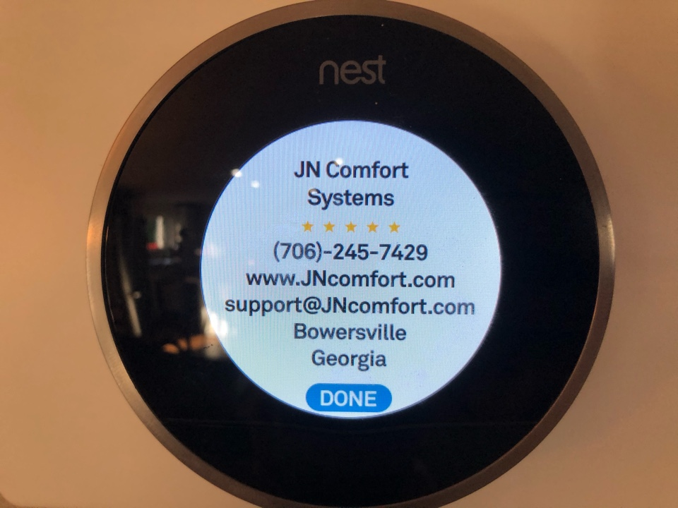 Toccoa, GA - Nest thermostat not cycling heat on. Locate fault and resolve with setting adjustments.