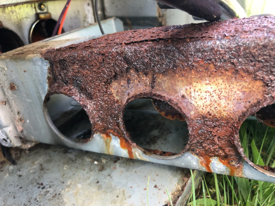 Hartwell, GA - Trane package gas unit with rusting out parts from air conditioner condensation