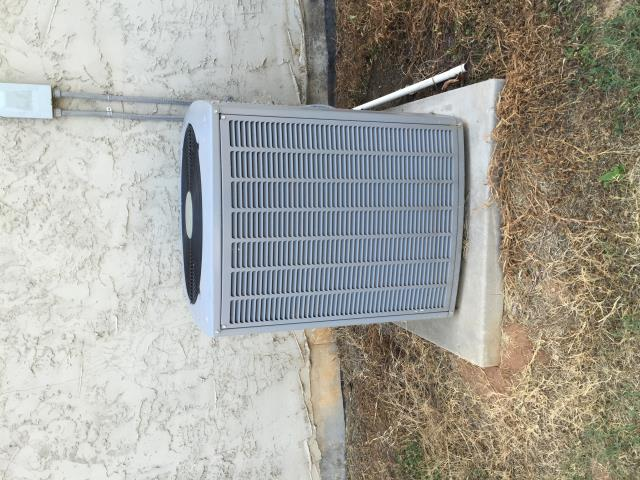 Martin, GA - Goodman heat pump not cooling, condensor fan motor not turning, system buzzing sound coming from outdoor unit. R22 AC failed capacitor, installed new Turbo 200 American made, high quality, extended warranty parts with terminal renovation and freon check.
