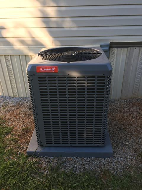 Martin, GA - Installation of high quality and energy efficient Coleman heat pump with high efficiency blower.