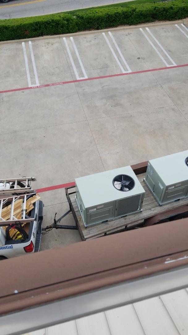 Dallas, TX - Two unit change out, on a Dallas restaurant