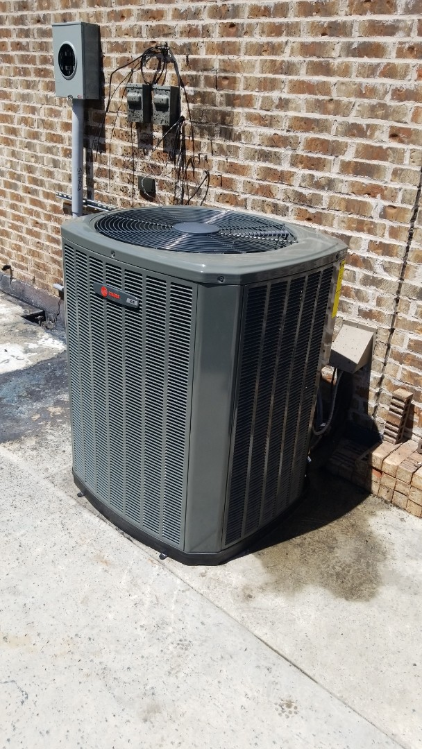 Allen, TX - Just finished a Trane a/c condenser install for a family in Allen.