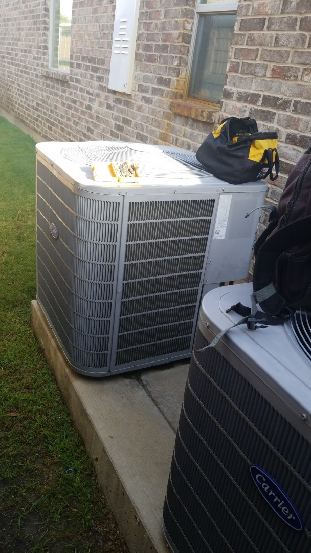 North Richland Hills, TX - Removing and installing 2 new Carrier split systems