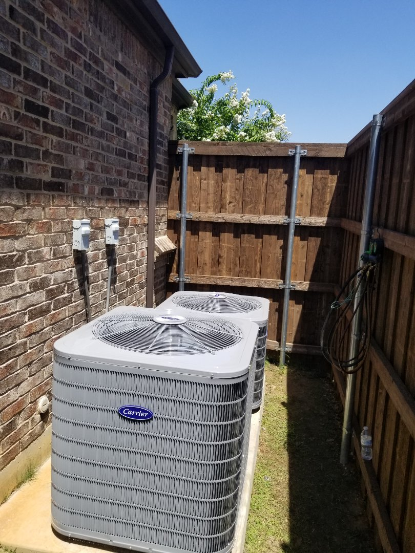 Hurst, TX - Installed 2 new Carrier units