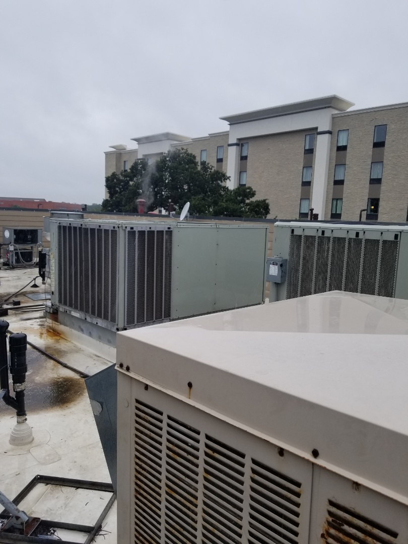 Colleyville, TX - Finishing repair of several Trane units at La Hacienda Colleyville