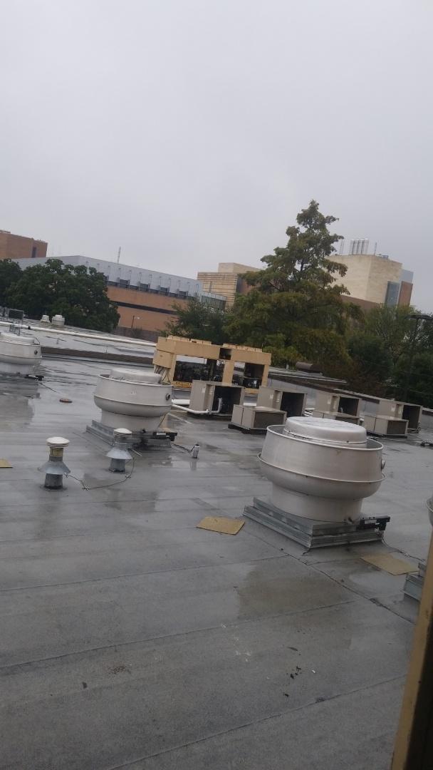 Arlington, TX - In Arlington at University of Texas Arlington doing a start up on a Make Up Air units