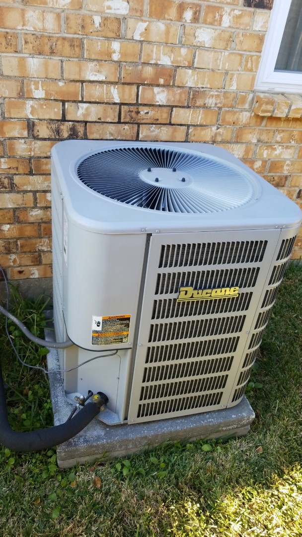 Garland, TX - Working on a Ducane air conditioner for a family in Garland