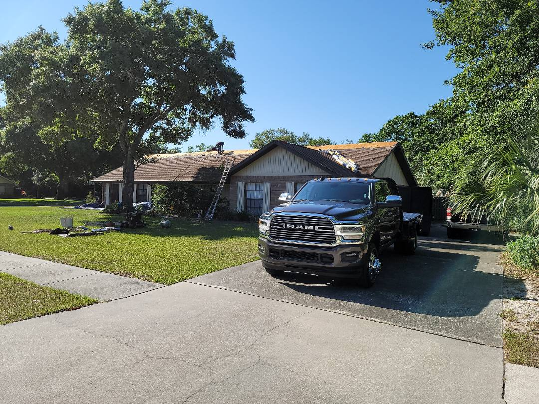 Brandon, FL - Starting roof replacement in Brandon this morning. Going back with GAF Pewter Gray.