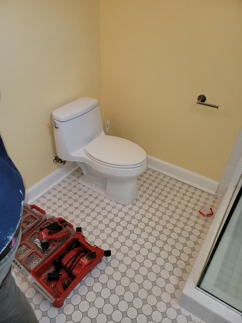 Evanston, IL - working on some small handyman projects in the bathroom.