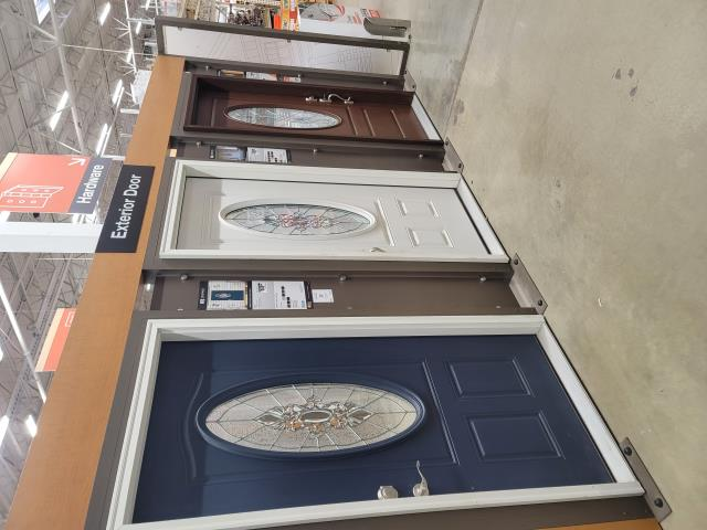 Evanston, IL - Hammell Homes is at Home depot in Evanston looking at different exterior front doors for a current project.