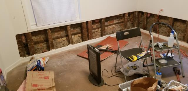 Evanston, IL - Repair walls from water dammage