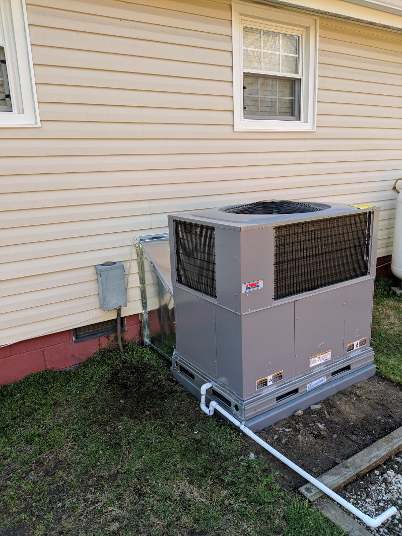 Benson, NC - Installed heat pump pack