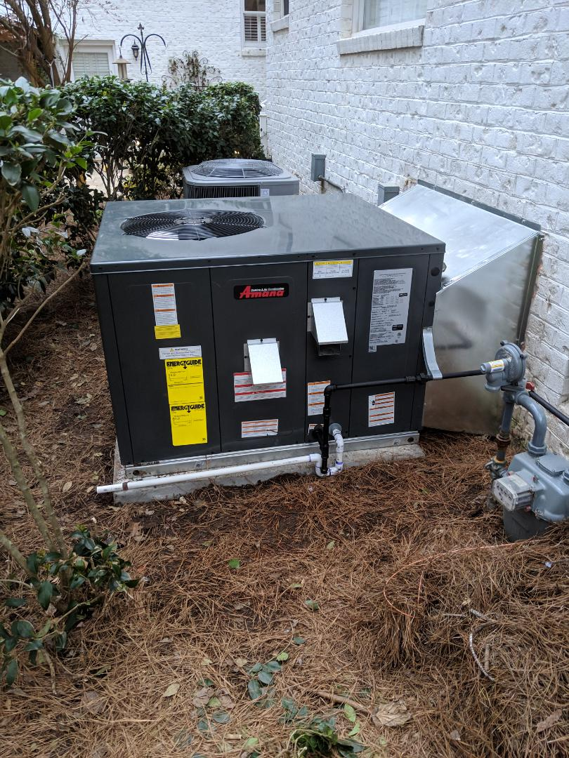 Raleigh, NC - Installed gas pack