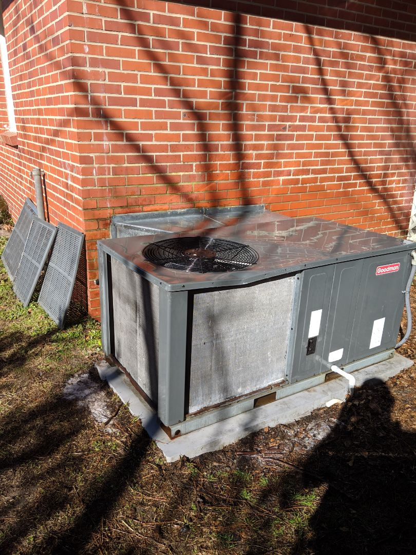 Fayetteville, NC - Cleaned outdoor coil and replaced electrical disconnect