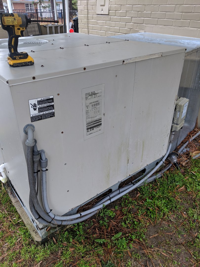 Dunn, NC - Replacing a blower board on a Nordyne package unit.