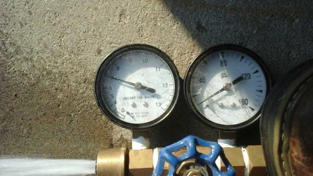 Washingtonville, NY - Pressure and gallons per minute testing for an FHA loan approval.