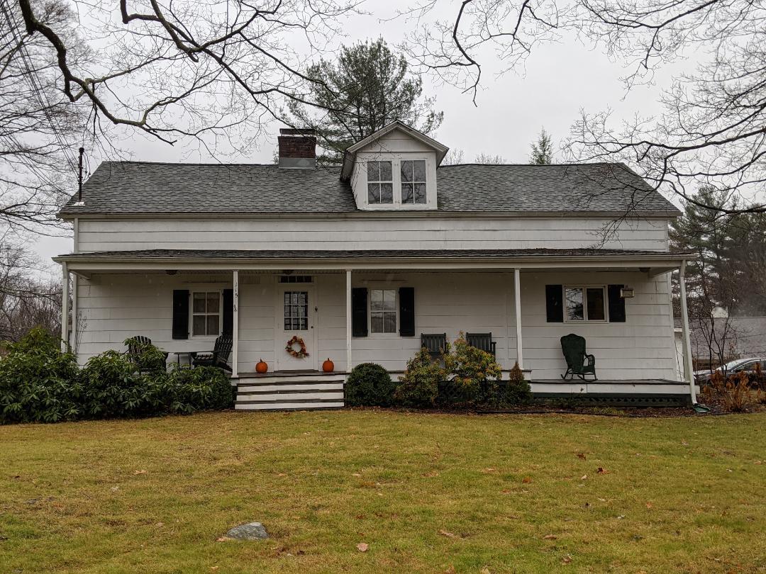 Carmel Hamlet, NY - Inspecting an 1835 farm house today in the pouring rain.