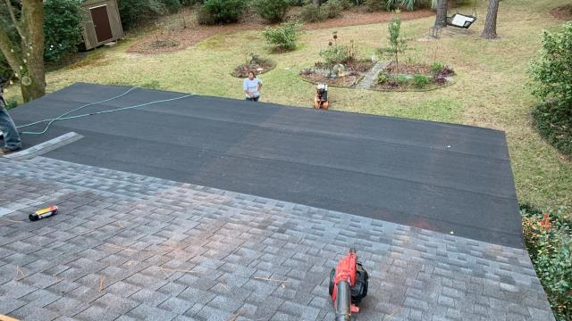 Mobile, AL - We installed a flat roof on this house in Mobile, AL