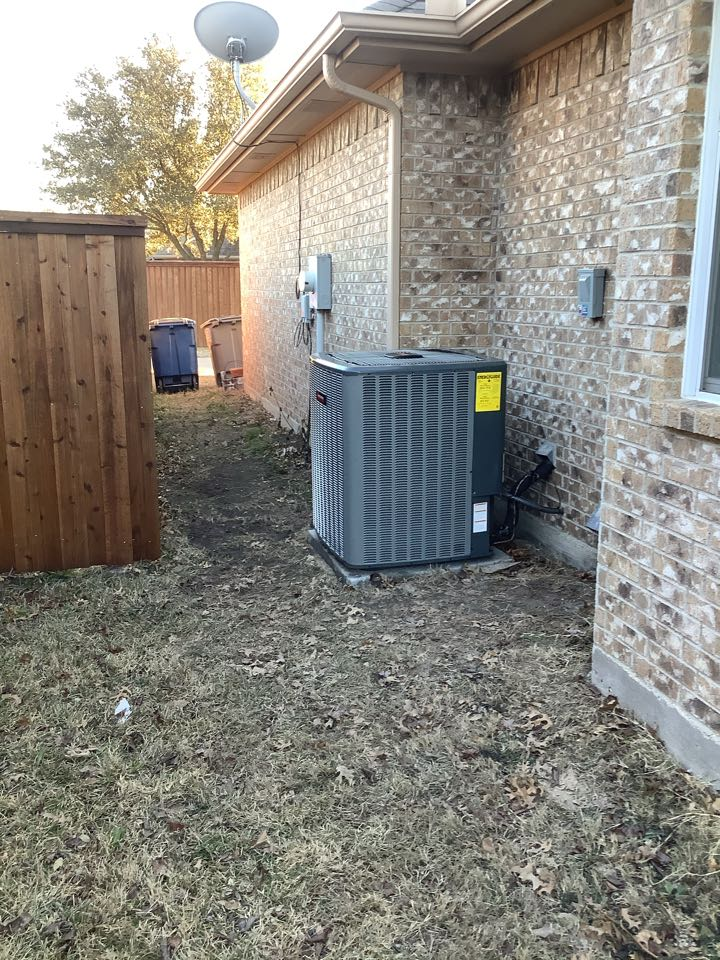 Red Oak, TX - 5 ton amana heat pump complete system install