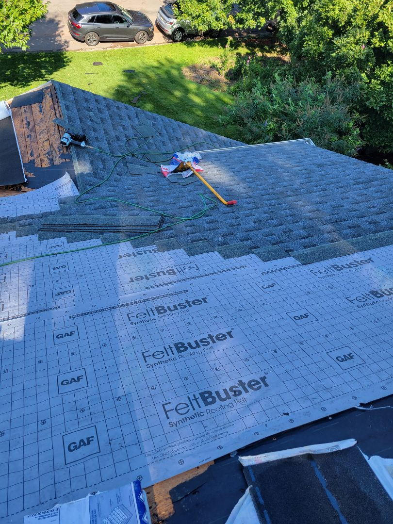 Millburn, NJ - Installing new GAF Timberline HDZ Roof in Pewter Gray