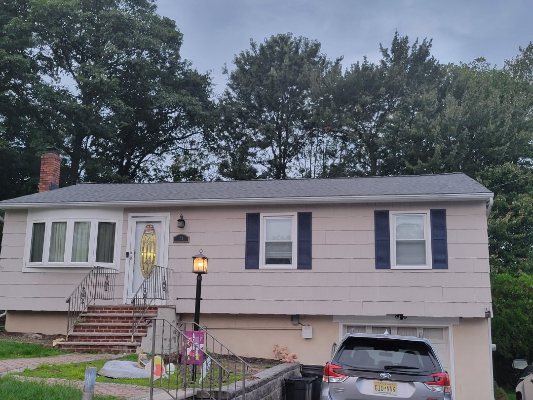 Hopatcong, NJ - New GAF Timberline HDZ Roof in Pewter Gray