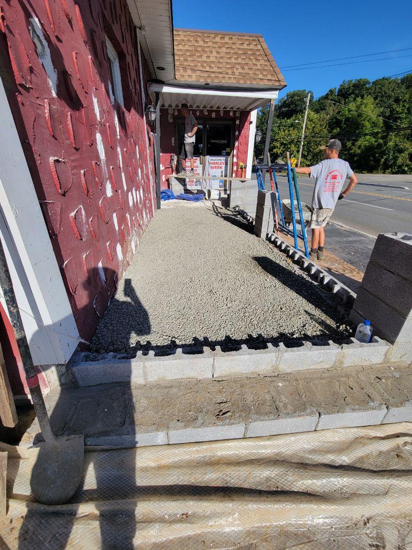 Jefferson, NJ - Getting ready for concrete