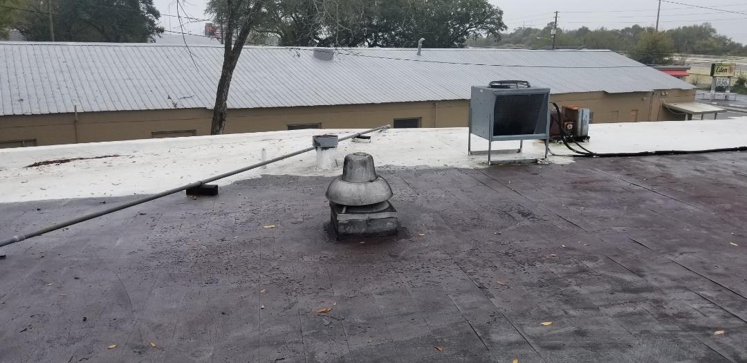 Roof never maintenance buildup three ply fiberglass felt hot tar system,