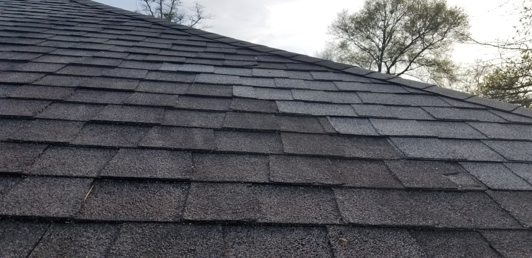 Milton, FL - Repair we done owner said shingles doesn't match we install the closes shingle we had hard to match a stain up roof they don't make stain shingles best we can do the original color we took out was off so we went back got the best shingle match we could find so it is what it is
