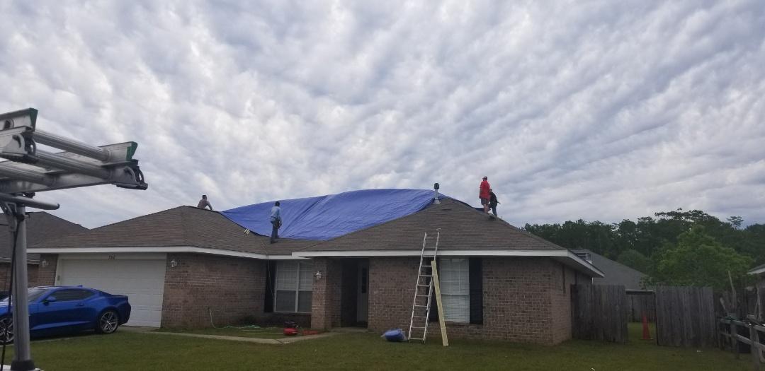 Installing tarps