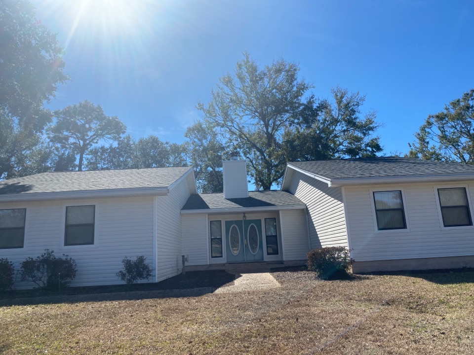 Completed reroof in Pensacola