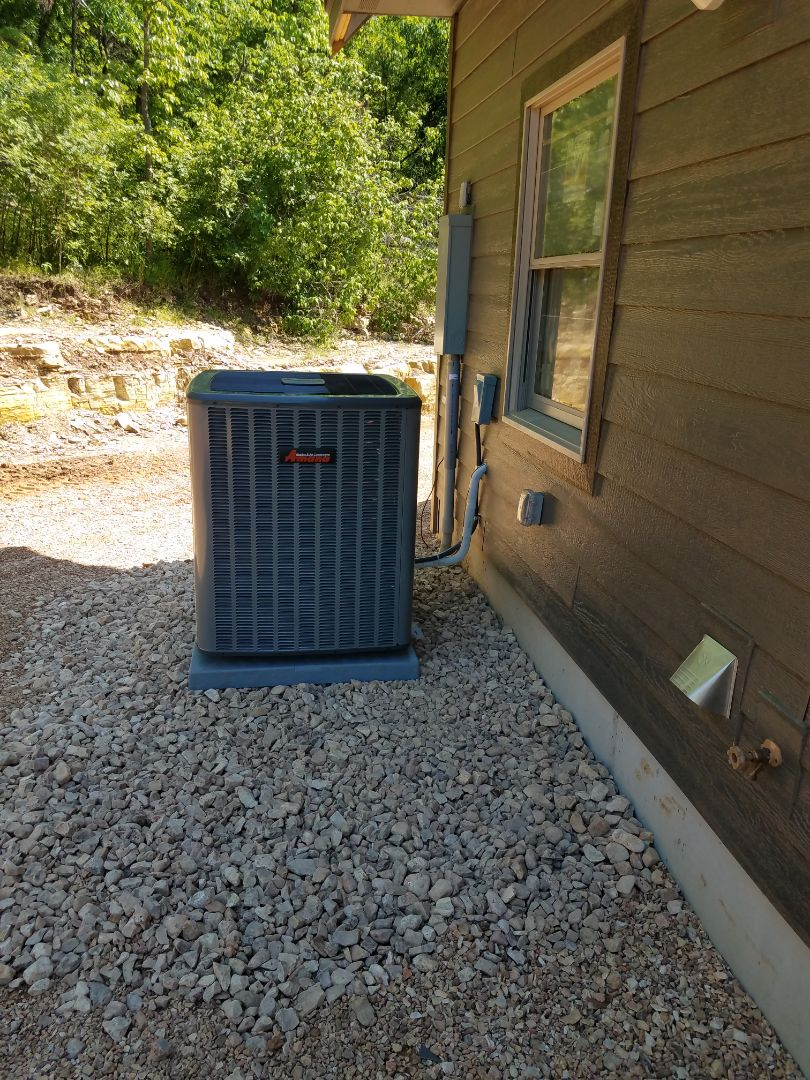 2 brand new amana heat pump systems with backup emergency heat. In floor heating using boiler system.