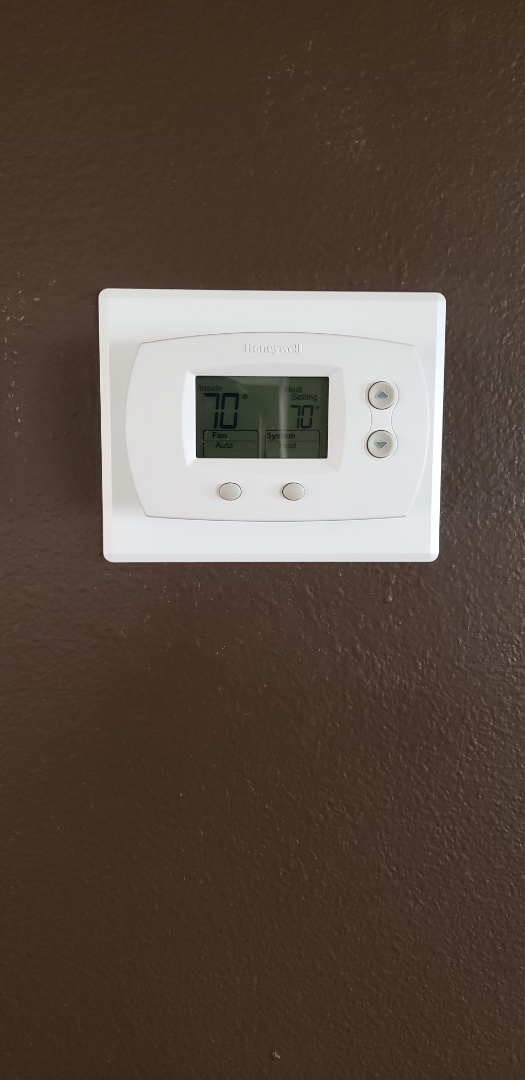 Reeds Spring, MO - Came out to look a a carrier gas furnace. The customer kept hearing a buzzing noise. Found that a board component on the tstat was making the buzzing sound also found that the thermostat wasn't working correctly. So I replaced the thermostat and checked operation of the system.