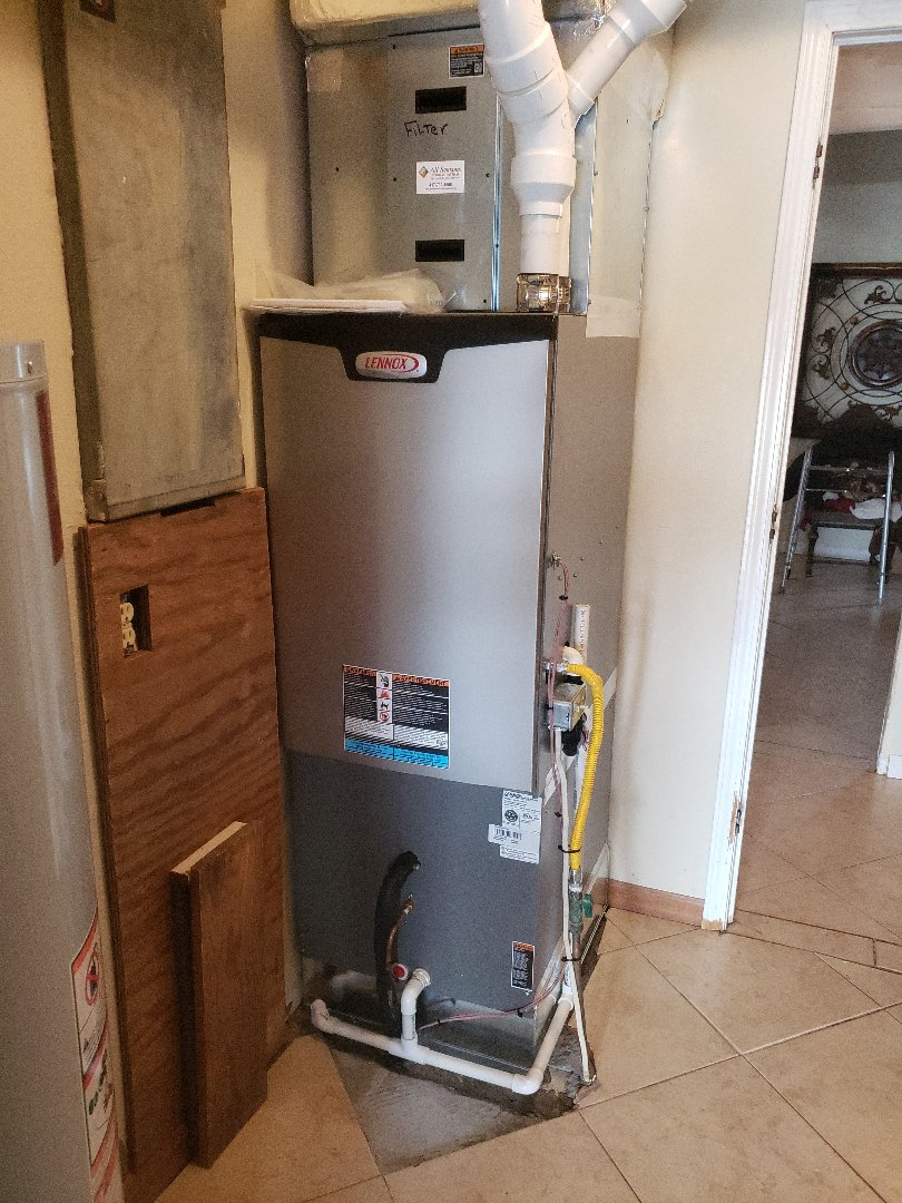 Galena, MO - Installed a brand new Lennox residential gas furnace and air conditioner