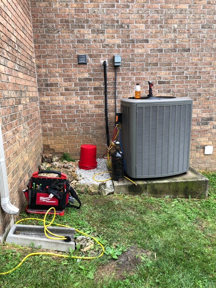 Installing a new Lennox variable capacity heat pump system. Removing old equipment. Replacing thermostat with a Lennox WiFi thermostat. Flushing out the lineset. Brazing in new equipment. Pressure testing new system and lineset. Evacuating system of oxygen and moisture. Charging system to manufacturer recommendations. And testing system once fully installed.